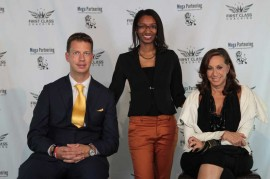 Renata Magalhaes and JT Foxx and Donna Karan