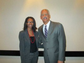 Renata Magalhaes and Stedman Graham